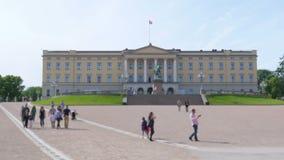 oslo kunglig slott, Norge stock video