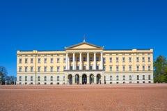 Oslo la señal de Royal Palace en la ciudad de Oslo, Noruega Imagen de archivo libre de regalías