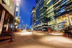 Oslo nachts lizenzfreie stockbilder
