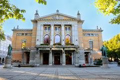 Oslo National Teather. View of the beautiful ational Teather in Oslo, Norway Royalty Free Stock Images