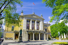 Oslo national theatre Stock Photo
