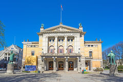 Oslo The National Theatre in Oslo city, Norway.  royalty free stock photo