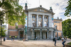 Oslo Nationaltheatret das nationale Theater stockfoto