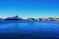 Oslo nel porto della Norvegia è una attrazioni del ` s di Oslo di grandi in una s fotografia stock