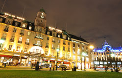 Oslo by night Royalty Free Stock Image