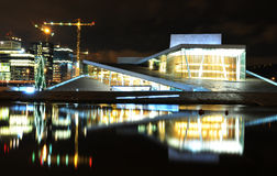 Oslo by night Royalty Free Stock Photo