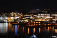 Oslo at night Royalty Free Stock Photo