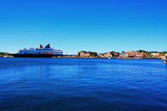 Oslo no porto de Noruega é uma atrações do ` s de Oslo de grandes em um s fotografia de stock