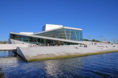 Oslo (Noorwegen) - de Bouw van de Opera Royalty-vrije Stock Foto