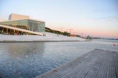 Oslo (Noorwegen) - de Bouw van de Opera Stock Foto