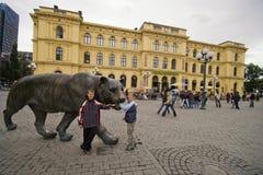 Oslo Noorwegen De tijgerstandbeeld van het stadscentrum Stock Fotografie