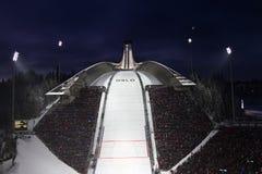 OSLO, NOORWEGEN - FEBRUARI 24: De Noordse Ski C van de Wereld FIS Royalty-vrije Stock Fotografie