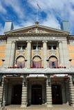 Oslo, Noorwegen - Juni 26, 2018: Het Nationale Theater van Oslo ` s, Norwa stock afbeelding