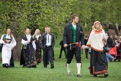 Oslo, Noorwegen - Mei 17, 2010: Nationale dag in Noorwegen Royalty-vrije Stock Afbeelding