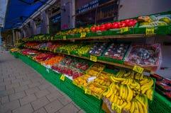 OSLO NORGE - 8 JULI, 2015: Typisk grönsak Royaltyfria Bilder