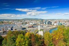 Oslo Norge sikt Arkivbild