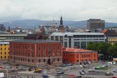 Oslo, Noruega - 15 de junio de 2012: Centro histórico de la ciudad imagenes de archivo