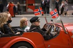 Oslo, Noruega - 17 de mayo de 2010: Día nacional en Noruega Foto de archivo libre de regalías