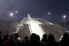 OSLO, NORUEGA - FEVEREIRO 24: Esqui nórdico C do mundo de FIS Fotografia de Stock Royalty Free