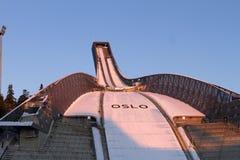 OSLO, NORUEGA - FEVEREIRO 24: Esqui nórdico C do mundo de FIS Fotografia de Stock