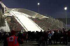 OSLO, NORVÈGE - 24 FÉVRIER : Ski nordique C du monde de FIS Photos stock