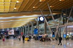 OSLO, NORVÈGE - 20 janvier 2017 : L'aéroport Gardermoen OSL de Lufthavn est le hub domestique principal et l'aéroport internation Photographie stock libre de droits
