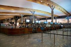 OSLO, NORVÈGE - 20 janvier 2017 : L'aéroport Gardermoen OSL de Lufthavn est le hub domestique principal et l'aéroport internation Images stock