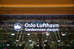 OSLO, NORVÈGE - 20 janvier 2017 : L'aéroport Gardermoen OSL de Lufthavn est le hub domestique principal et l'aéroport internation Photos stock