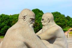 OSLO, NORVÈGE - 4 juillet 2014, les statues de granit dans le vigeland se garent à Oslo, créé par le vigeland de Gustav Images libres de droits