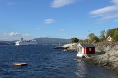 Oslo, Norvège - 24 juillet 2018 : Vue vers le fjord d'Oslo images libres de droits