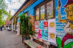 OSLO, NORVEGIA - 8 LUGLIO 2015: Arte della via dei graffiti Fotografie Stock