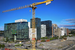 OSLO, NORWAY – AUGUST 17, 2016: A construction site of Bjorvik Royalty Free Stock Photo