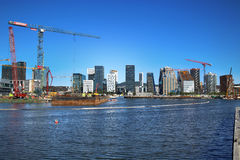 OSLO, NORWAY – AUGUST 17, 2016: A construction site of Bjorvik Royalty Free Stock Images