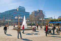 Oslo. Norway. Johanne Dybwad Square  Royalty Free Stock Photo