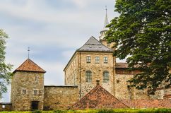 OSLO, NORWAY, AKERSHUS FORTRESS. Akershus Fortress, Oslo, Norway in summer Stock Images