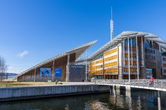 The Astrup Fearnley Museum of Modern Art . It is a privately own. OSLO, NORWAY - APRIL 26, 2018: The Astrup Fearnley Museum of Modern Art . It is a privately stock image