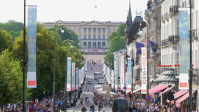 OSLO - NORWAY, AUGUST 2015: karl johans gate street view