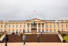 The Royal Palace in Oslo. Oslo, Norway-August 14, 2014 - The Royal Palace in Norwegian capital Stock Photography