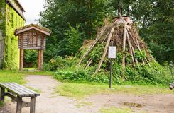 Sami huts. Oslo, Norway-August 13, 2014 - Sami huts at Norsk Folkemuseum Royalty Free Stock Photos