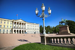 OSLO, NORWAY – AUGUST 17, 2016: Tourist visit The Royal Palace Stock Image