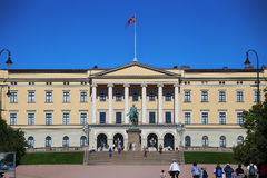 OSLO, NORWAY – AUGUST 17, 2016: Tourist visit The Royal Palace Stock Photos