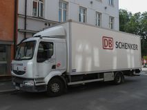 DB Schenker truck in Oslo Royalty Free Stock Image