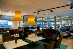 OSLO, NORWAY - JAN 21st, 2017: airport business class lounge interior of SAS, seating area in a frequent flyer lounge Stock Photos