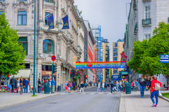 OSLO, NORWAY - 8 JULY, 2015: Beautiful Royalty Free Stock Photo