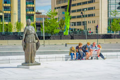 OSLO, NORWAY - 8 JULY, 2015: Beautiful statue Royalty Free Stock Photo