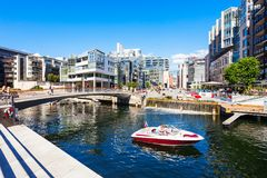 Aker Brygge in Oslo Stock Images