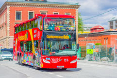 OSLO, NORWAY - 8 JULY, 2015: Double decker bus Royalty Free Stock Photos