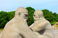 OSLO, NORWAY - JULY 4, 2014, granite statues in vigeland park in oslo, created by gustav vigeland Royalty Free Stock Images