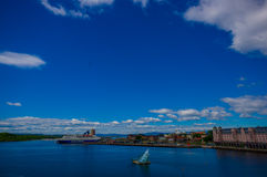 OSLO, NORWAY - 8 JULY, 2015: Oslofjord as seen Stock Image