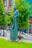OSLO, NORWAY - 8 JULY, 2015: Statue Carl Joachim Stock Photography